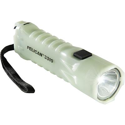 pelican 3310pl glowing in the dark safety flashlight
