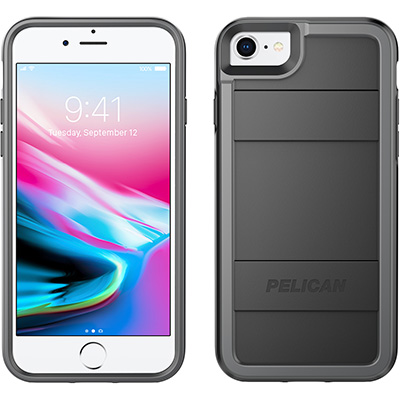 pelican protector iphone 7 8 phone case c23000 black gray