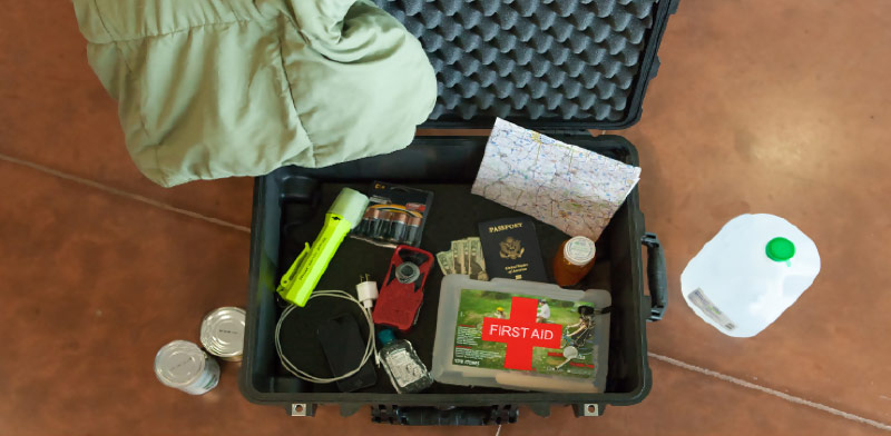 pelican emergency supply kit case