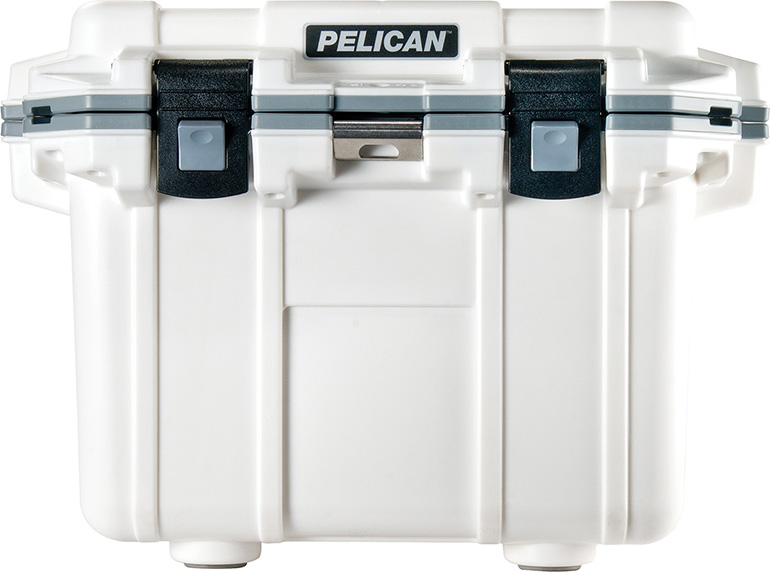 pelican 30qt white fish hunt camp cooler