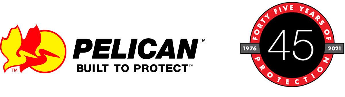 pelican 45 year anniversary logos