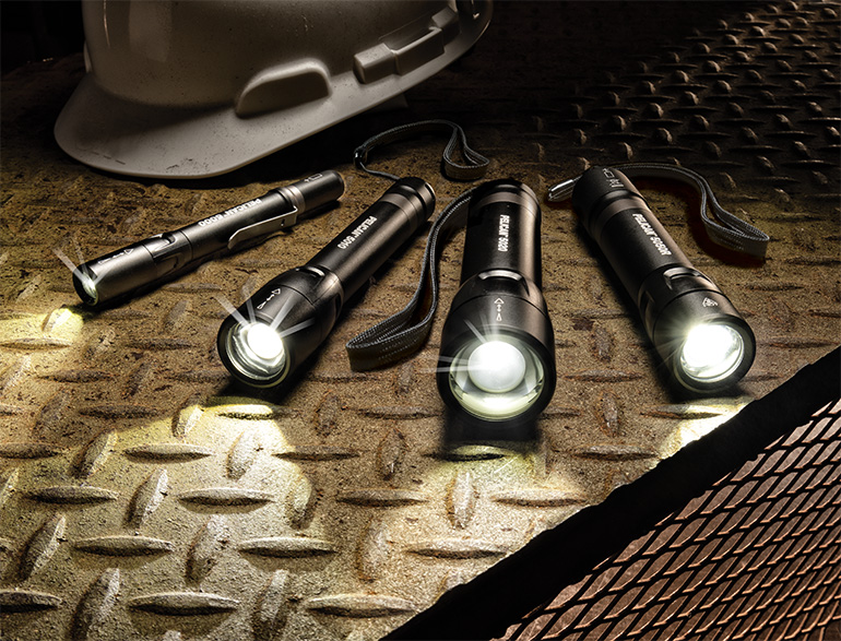 pelican 5 series flashlights slide beam