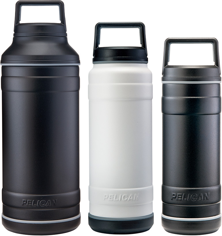 pelican bottles black travel bottle