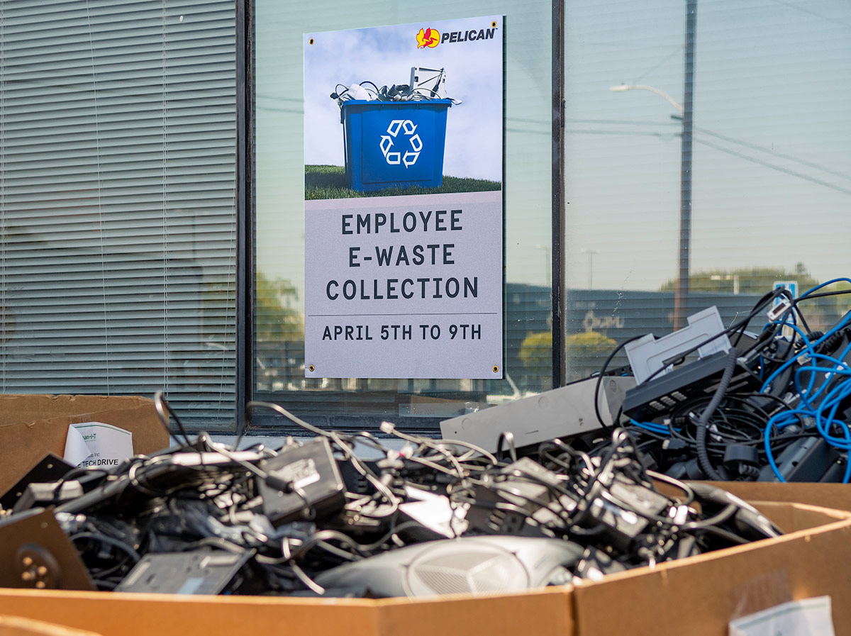 pelican employee e waste collection drive