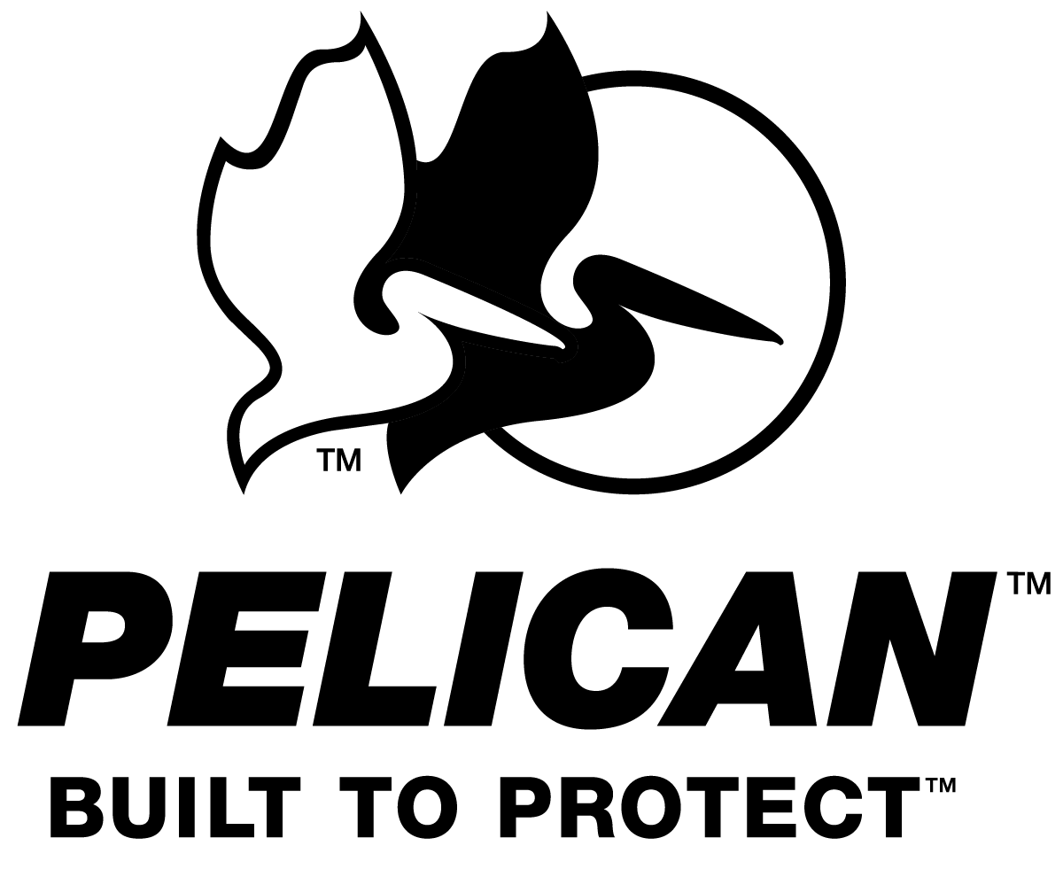 pelican built to protect stacekd black on white