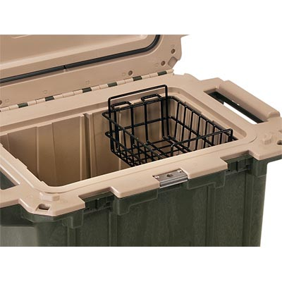 pelican peli cooler 50 wb 50qt shop dry rack basket