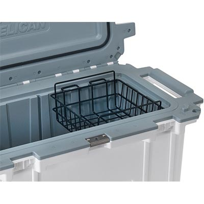 pelican peli 70 wb 70qt shop cooler dry rack basket