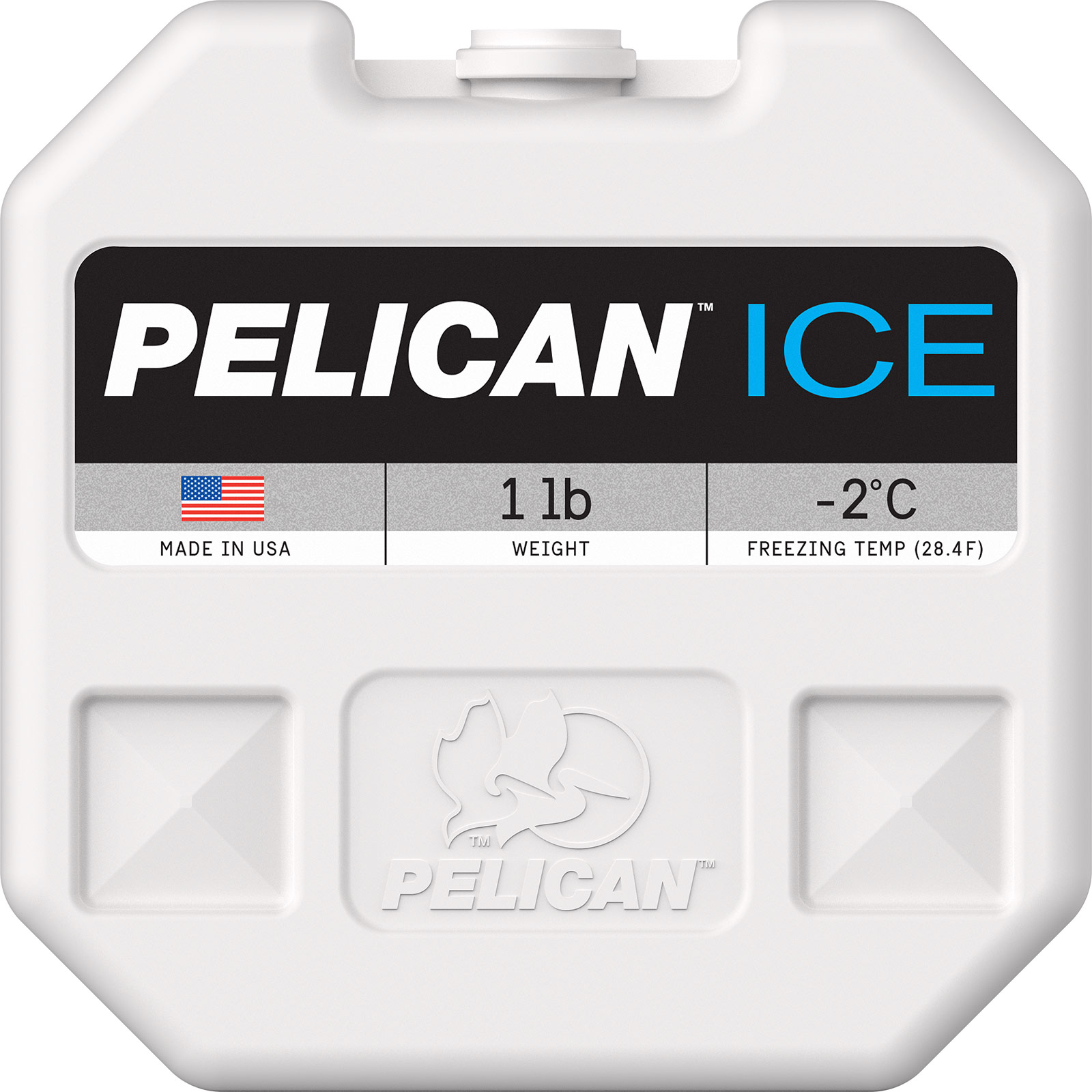 pelican ice pi 1lb cooler freezer ice pack