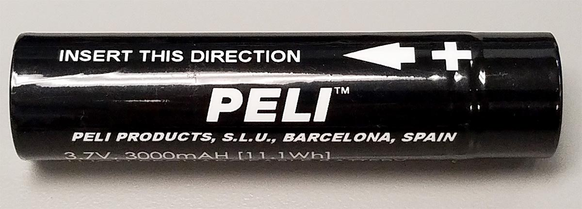 peli 3319z1 flashlight battery