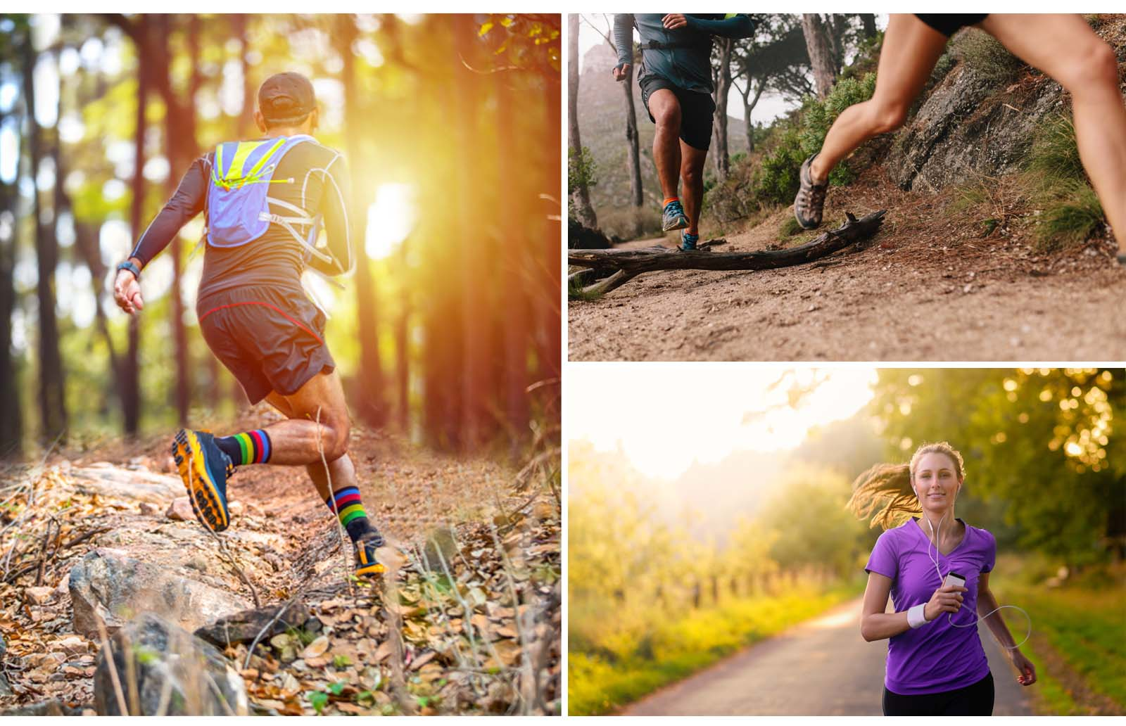 trail running and road running