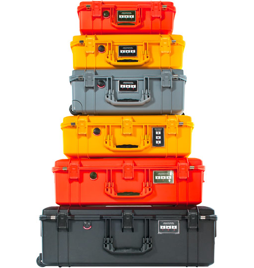 Pelican Air Cases lightweight watertight hard case colors