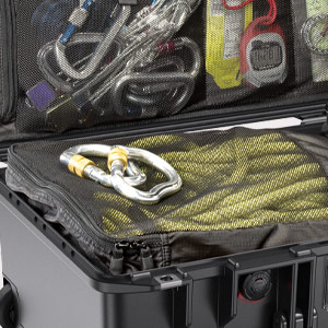 pelican travel case lid organizer storage compartments
