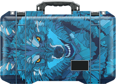 pelican special animal air travel case wolf
