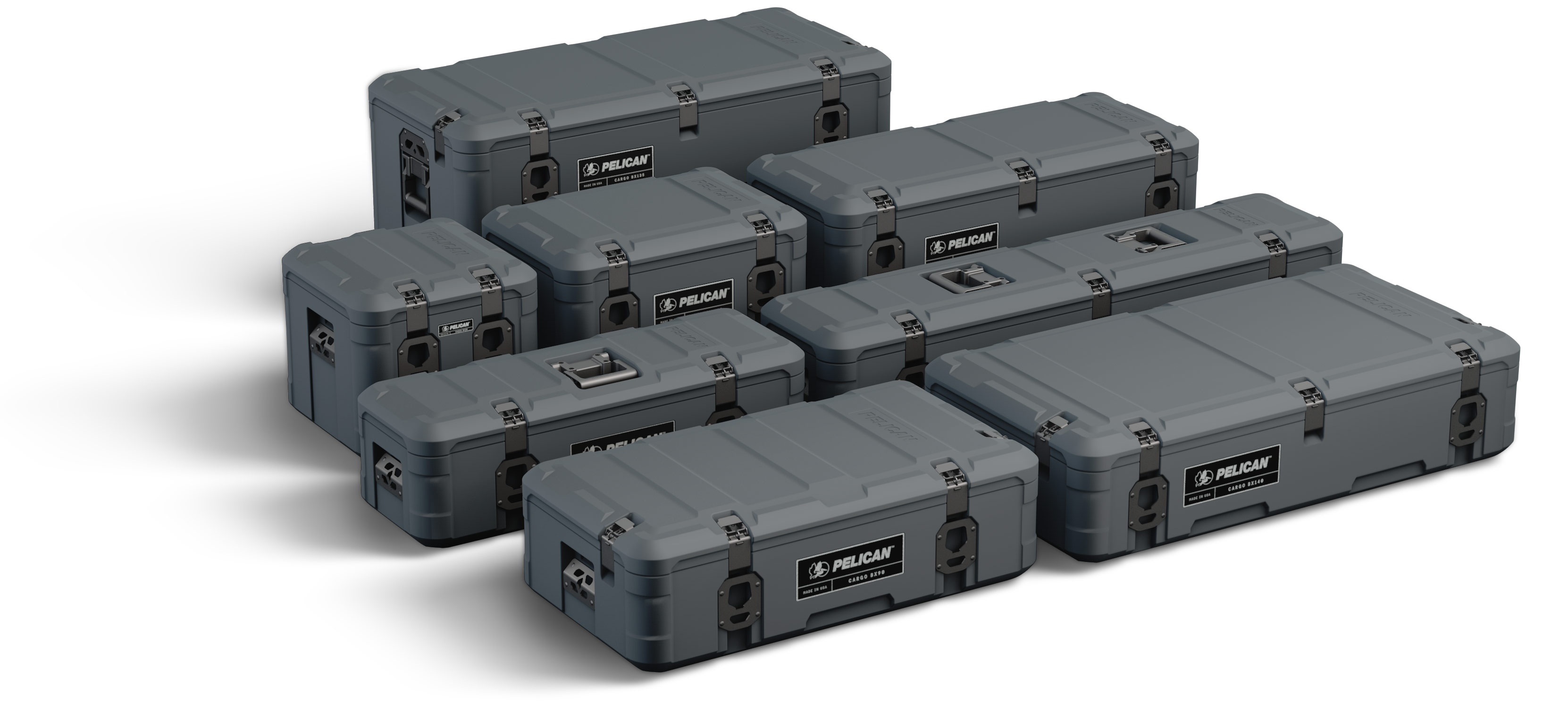 pelican cargo cases group set