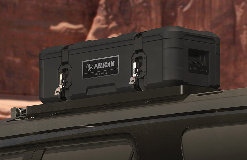 pelican truck bed cargo cases mounted