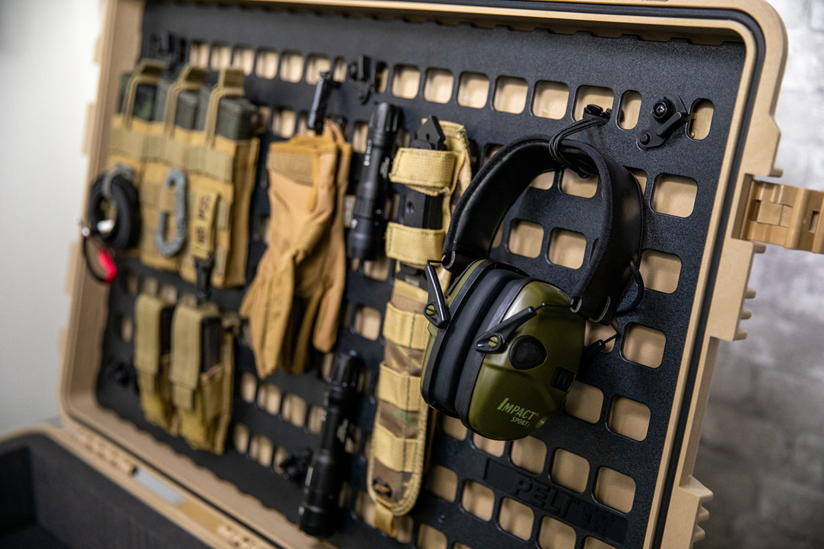 pelican molle panel flashlight headphone strap