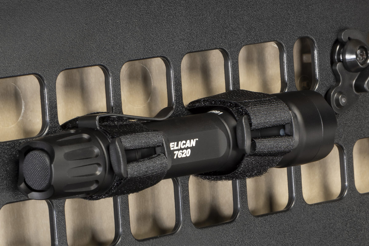 pelican case 7620 flashlight velcro strap panel
