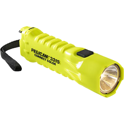 pelican 3315cc correct color led flashlight with strap
