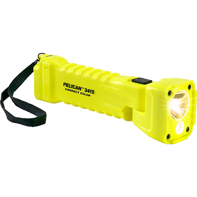 pelican 3415cc correct color yellow led flashlight