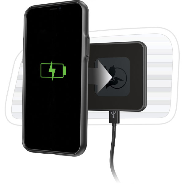 pelican iphone wireless qi charger mount