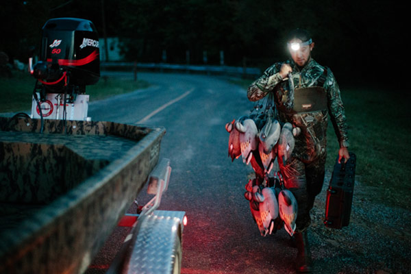 pelican night fishing led headlamp