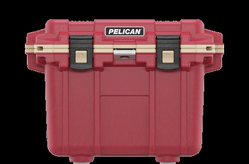 pelican 30qt beverage cooler red