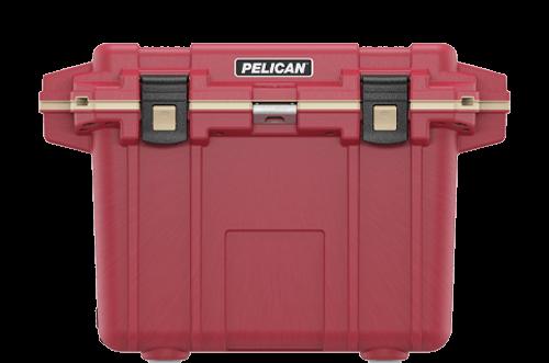 pelican 50qt camping cooler red