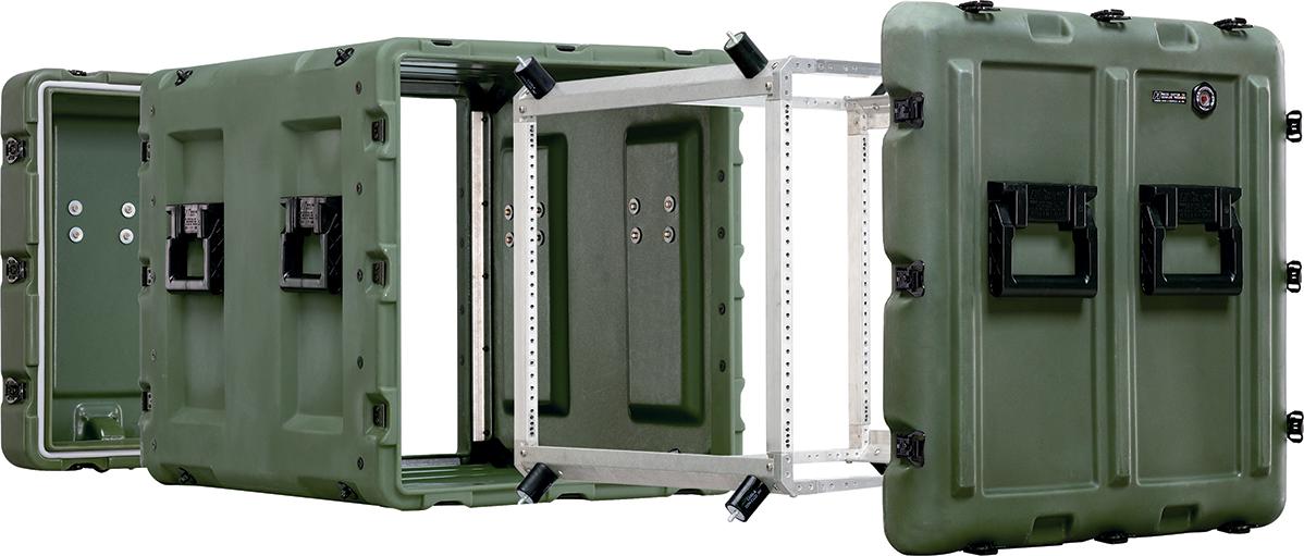 peli military rack case container features