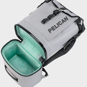 pelican ergonomic soft cooler backpack gray