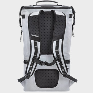 pelican paddedl ightweight cooler backpack gray