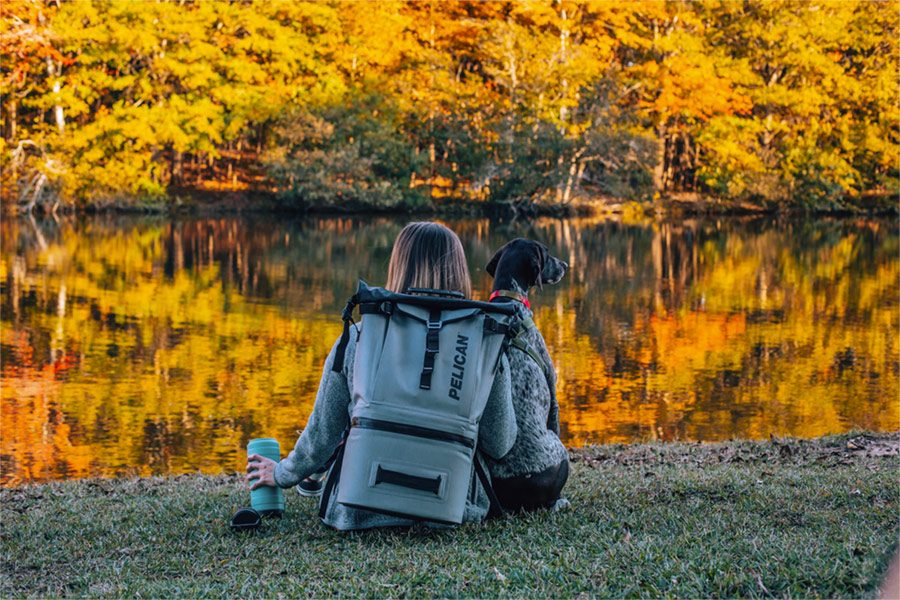 pelican bri van scotter backpack cooler bottle