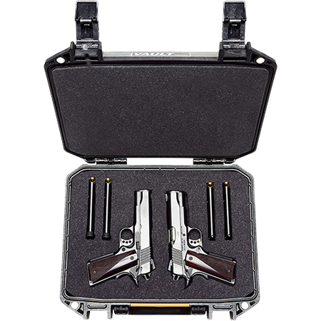 pelican dual pistol revolver gun case