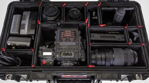 pelican air trekpak red camera drone case
