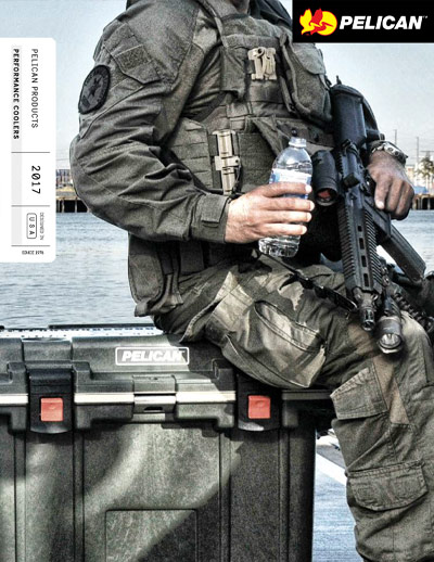 pelican professional cooler drinkware brochure military