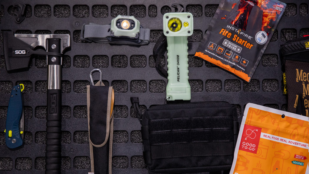 pelican 1650 flashlight headlamp hardware molle panel