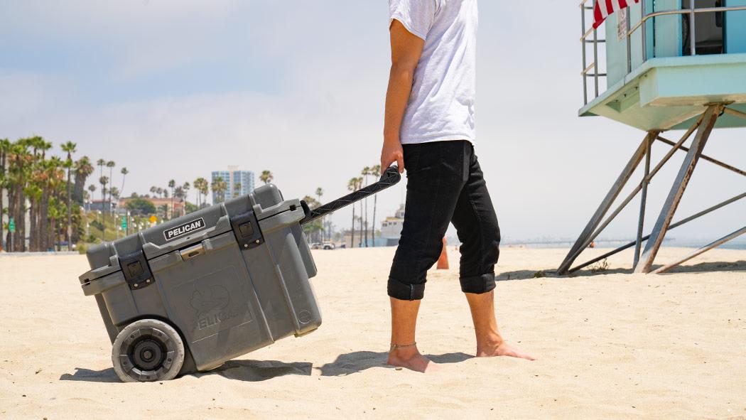 pelican 45qt graphite beach cooler