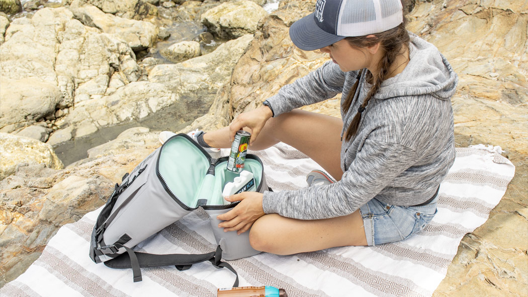 pelican soft ice drink cooler backpack