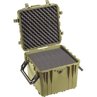 pelican 0340 cube rolling case green