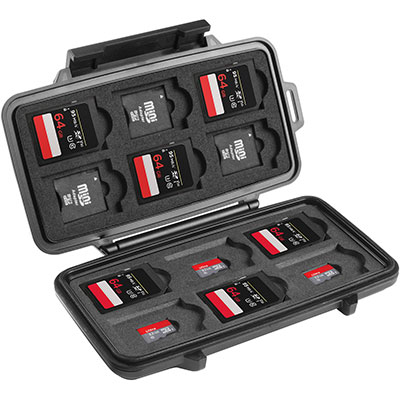 pelican 0915 hard camera memory sd card case