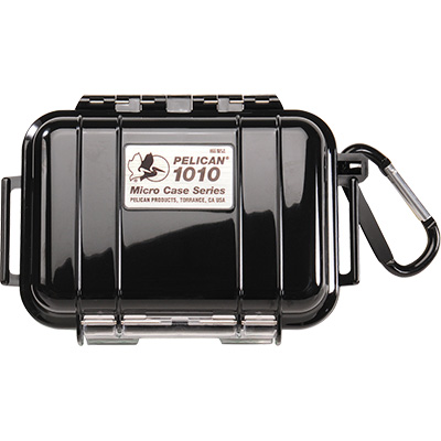 pelican 1010 solid black marine micro case