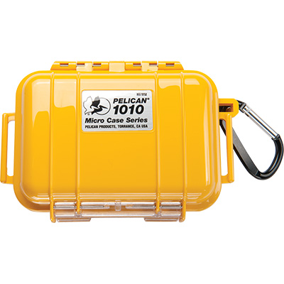 pelican 1010 solid waterproof yellow micro case