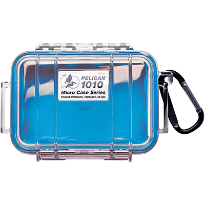 pelican waterproof boat blue micro case