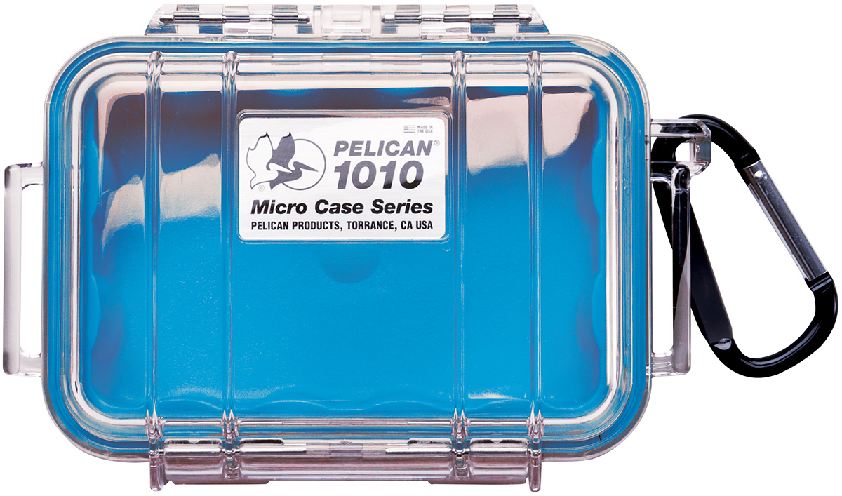 pelican 1010 waterproof boat blue micro case
