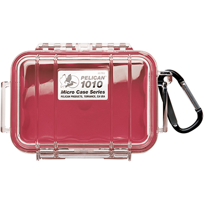 pelican watertight marine red micro case