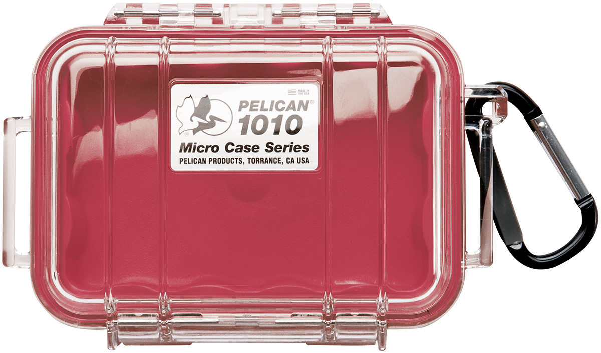 pelican 1010 watertight marine red micro case