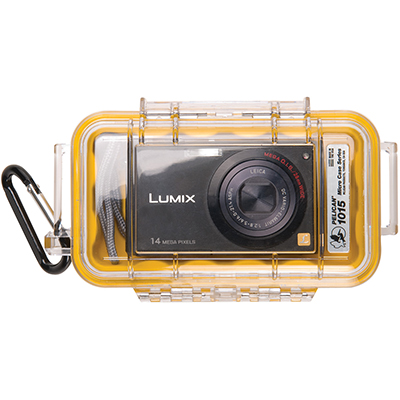 pelican 1015 watertight camera yellow hard case