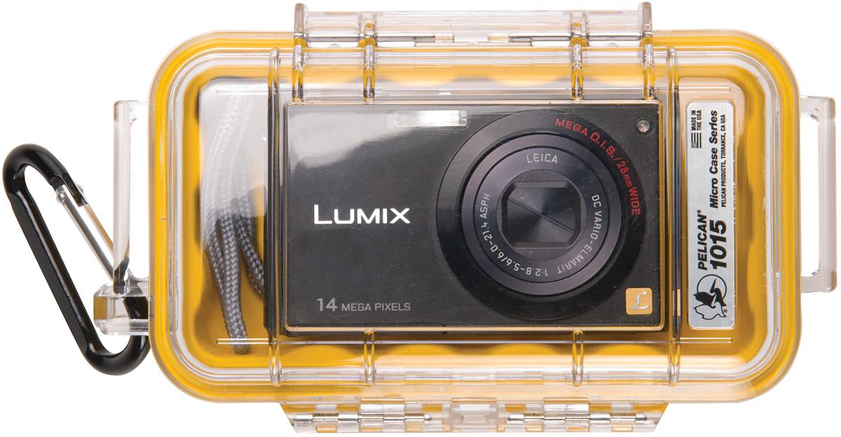pelican peli products 1015 watertight camera yellow hard case