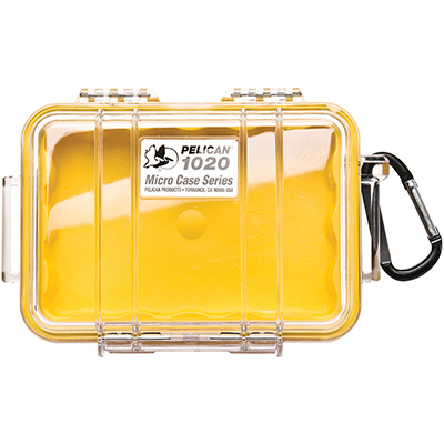 pelican 1020 rugged hard yellow micro case