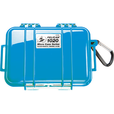 pelican 1020 solid blue strong hard micro case