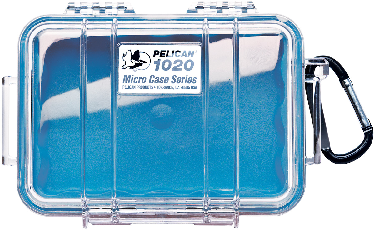 pelican peli products 1020 strong hard blue micro case
